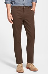 Bonobos Men's Tailored Fit Washed Chinos Brown