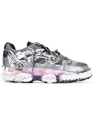 Maison Martin Margiela Deconstructed Low Top Sneakers Silver
