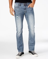 Buffalo David Bitton Men's Evan X Men's Slim Fit Stretch Jeans Blasted And Ripped