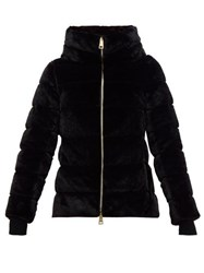 Herno Faux Fur Funnel Neck Jacket Black