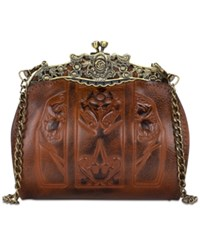 Patricia Nash Burnished Tooled Carmonita Small Frame Satchel Florence