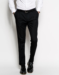 Sisley Suit Trousers With Jacquard In Slim Fit Black901