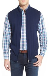 Men's Peter Millar Merino Wool Blend Vest Bright Navy