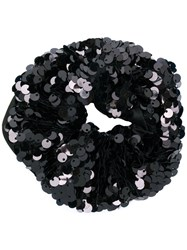 Eugenia Kim Mallory Sequinned Scrunchie Black
