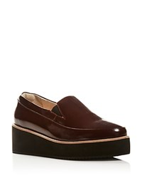Sol Sana Tabbie Platform Wedge Loafers Wine
