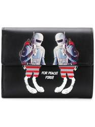 Undercover Graphic Print Foldover Wallet Black