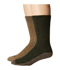 Columbia 4 Pack Marled Moisture Control Crew Brown Assorted Men's Crew Cut Socks Shoes