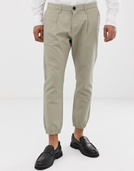 Esprit Slim Fit Cuffed Chino Beige
