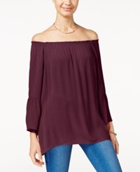 Say What Juniors' Off The Shoulder Blouse Wine Tasting