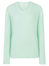 Tulchan Round Neck Cable Jumper Green