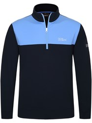 Oscar Jacobson Men's Pock Tour Half Zip Dark Blue