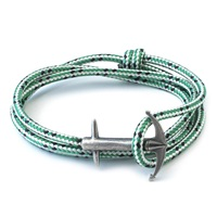 Anchor And Crew Green Dash Admiral Rope Bracelet