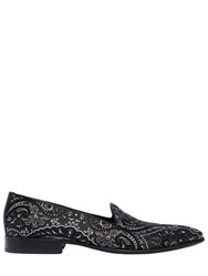 Etro Paisley Silk Jacquard Loafers Black