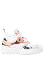 Emilio Pucci 40Mm Leather High Top Sneakers White