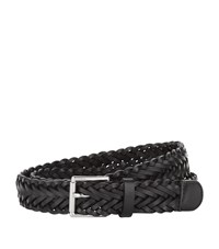 Sandro Woven Leather Belt Black