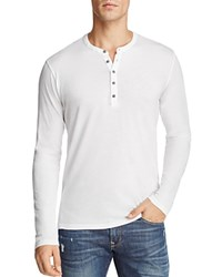 Velvet Alvaro Long Sleeve Henley White