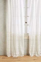Anthropologie Emile Striped Curtain Ivory