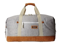 Rvca Oakwood Duffel Grey Heather Duffel Bags Gray