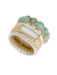 Lucky Brand Stuctured Stacked Ring Two Tone