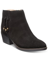 White Mountain Havana Tassel Booties Women's Shoes Black