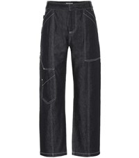 Chloe High Rise Cropped Jeans Blue