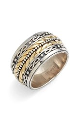 Men's Konstantino 'Orpheus' Etched Band Ring