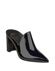 Marc Fisher Leather Pointed Toe Mule Black