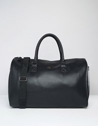 Asos Holdall In Black With Gold Emboss Black