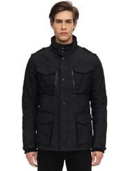 Schott Nylon Field Jacket Black