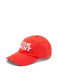 Vetements X Reebok For Rent Embroidered Baseball Cap Red