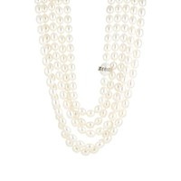 Cathy Waterman Five Strand Pearl Necklace White