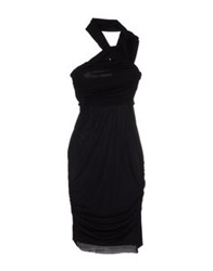Uniqueness Knee Length Dresses Black