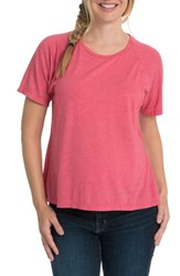 Bun Maternity Relax Nursing Tee Soft Red