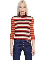Sonia Rykiel Sequin And Lurex Striped Knit Sweater