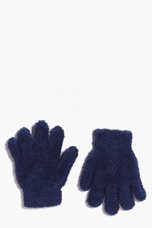 Boohoo Thermal Snow Soft Magic Gloves Blue
