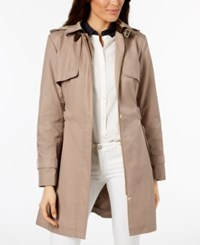 Cole Haan Signature Hooded Belted Trench Coat Dune