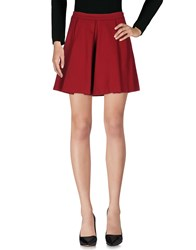 Doralice Knee Length Skirts Red