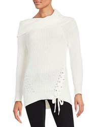 Jessica Simpson Gwenore Knit Sweater White