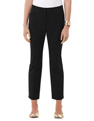 Rafaella Double Weave Ankle Pants Black