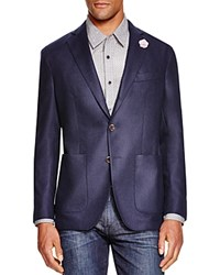 The Men's Store At Bloomingdale's Cashmere Blend Flannel Regular Fit Sport Coat Navy
