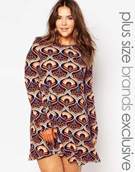 Alice And You Paisley Scarf Print Swing Dress Multi