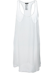 Ann Demeulemeester Loose Fit Long Tank Top White