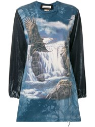Night Market Eagle Print Sweatshirt Blue