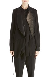 Ann Demeulemeester Women's Asymmetrical Zip Wool Blend Vest