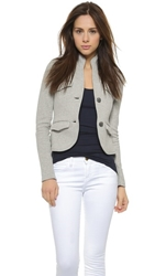 James Perse Shrunken Military Blazer Heather Grey