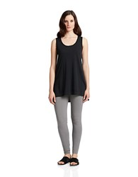 424 Fifth Dusk Chiffon Trim Hi Lo Tank Black