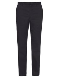 Rag And Bone Salute Grant Slim Leg Cotton Trousers Navy
