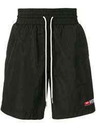 Diesel Nylon Loose Fit Shorts Black