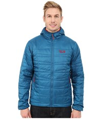 Mountain Hardwear Switch Flip Hooded Jacket Phoenix Blue Smolder Red Men's Coat