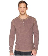 Agave Denim Freight Train Long Sleeve Three Button Henley Pavement Long Sleeve Pullover Gray